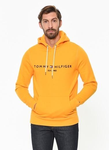 Tommy Hilfiger Kapüşonlu Sweatshirt Sarı